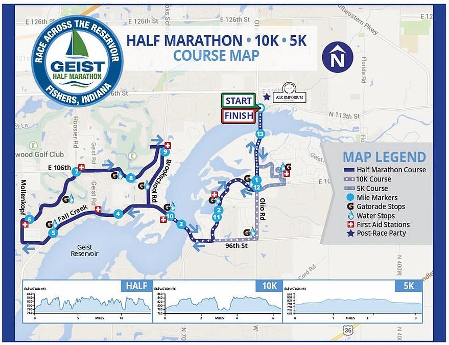 Geist Marathon Course Map